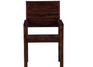 Oriel Arm Chair in Provincial Teak Finish by Woodsworth at Best Price