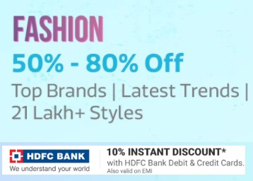 Get Flat 50% - 80% OFF on Top Brand Fashion Products
