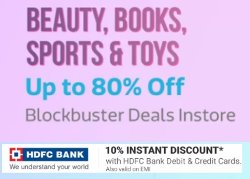 Beauty, Books, Sports & more at Huge Discount + More Offers