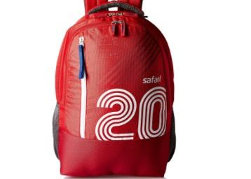 Safari 27 Ltrs Red Casual Backpack (Twenty) at Just Rs. 580