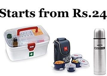 Cello and Milton Home & Kitchen Product starts from Just Rs.24