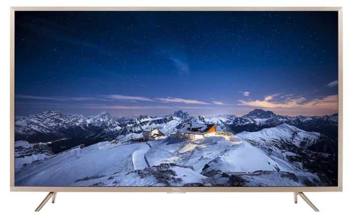 TCL 109.3 cm (43 inches) L43P2US 4K UHD LED Smart TV (Golden) at Rs. 30990