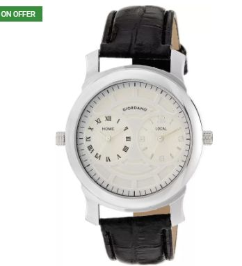 Giordano 60062 DTLM Black/White P10500 Watch at Just Rs. 1314