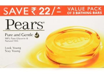Pears Pure and Gentle Soap Bar, 125g (Pack of 6) at Rs. 203