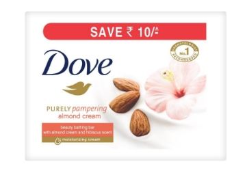 Dove Almond Cream Beauty Bathing Bar, 100g (Pack of 6) at Rs. 251