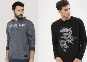 Hoodies & Sweatshirts at Up to 60% Off From Rs. 445