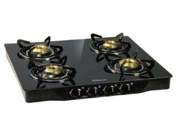 Sunflame Pearl 4 Burner Glass Top Gas Stove (Black) at Rs. 4399