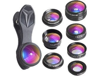 Apexel 7 in 1 Universal Clip Professional HD Camera Lens Kit