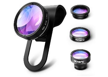 Victsing 3 In 1 Clip-On Lens Kit For Mobile Carmera