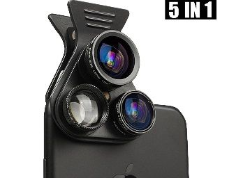 PICKOGEN 5 in 1 Cell Phone Camera Lens