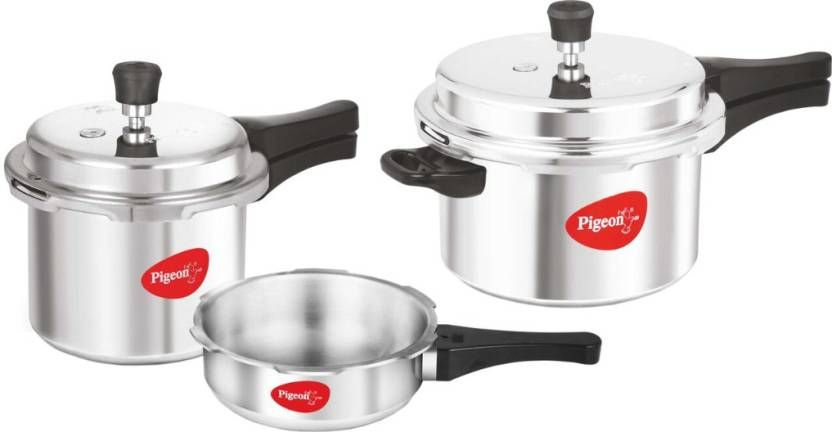 Pigeon Special Combo Pack 2 L, 3 L, 5 L Pressure Cooker at Rs. 1349
