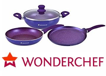 Wonderchef Ruby Series Induction Bottom Cookware Set at Rs. 1399