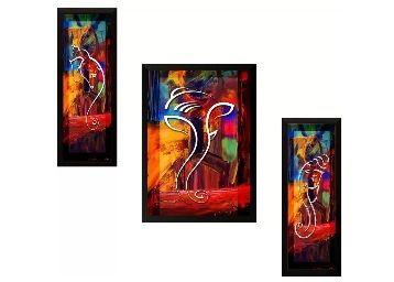 SAF Ganesh Modern art Ink Painting (13.5 inch x 22 inch) at Rs. 375