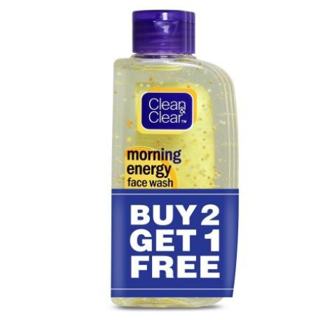 Clean & Clear Morning Energy Facewash, Lemon, 100ml (Buy 2 Get 1 Free) at Rs. 230