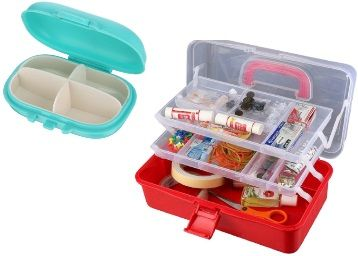 Miamour Plastic Tool Box - Color May Vary