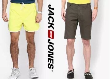 Jack & Jones Shorts Minimum 65% Off From Just Rs. 594