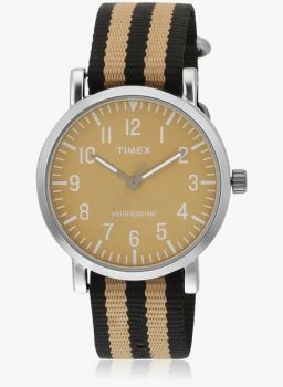 [LOOT Deal] Timex Tweg15415 Two Tone/Brown Analog Watch at Rs. 389 [MRP Rs. 1295]