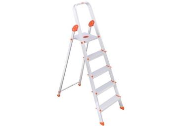 Best Price - Bathla Ultra-Stable 4-Step Foldable Aluminium Ladder 173cm (5.7 ft.)