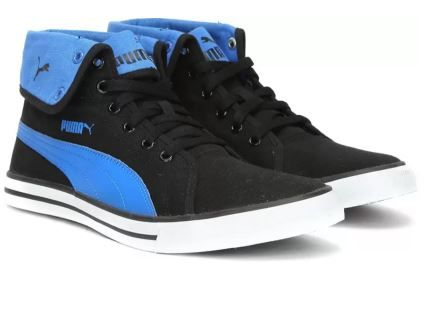 Puma Carme Mid IDP Mid Ankle Sneakers For Men (Black, Blue) at 70% Off