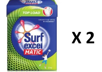 Surf Excel Matic Top Load Detergent Powder 4 Kg [Add 2 Units]