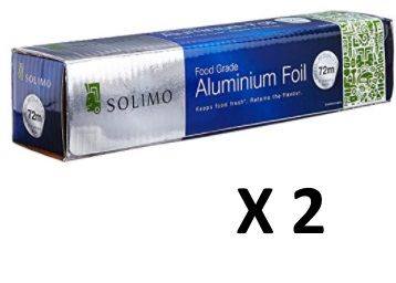 Pack of 2 :- Solimo Aluminium Foil - 72 m (11 Microns) at Just Rs. 570