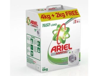 Extra Rs. 100 off:- Ariel Matic Front Load Detergent Washing Powder - 4 kg with Free Detergent Powder - 2 kg