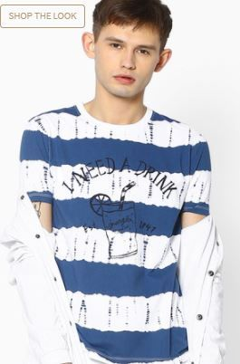 Flat 70% Off On WRANGLER Printed Crew-Neck T-shirt