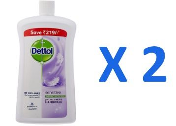 Rs. 50 Cashback:- Dettol Sensitive Liquid Soap Jar - 900 ml (Pack of 2) at Rs. 276 [Loot Price]