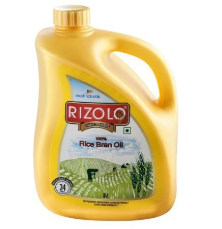 Rizolo Rice Bran Oil Jar, 5L at Just Rs. 296
