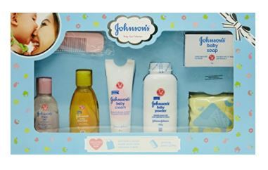 Johnson's Baby Care Collection with Organic Cotton Baby Tshirt (7 Gift Items, Blue) at Rs. 137