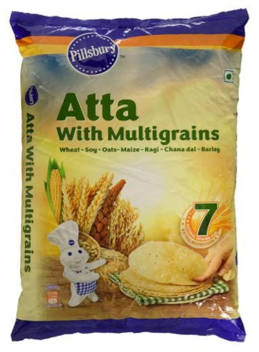 Pillsbury Multi Grain Atta, 5kg at Just Rs. 105