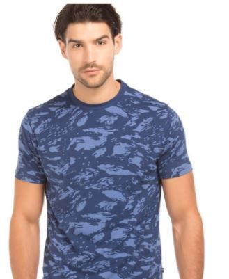 Nautica Dark Blue Slim Fit T-shirt at Flat 60% Off