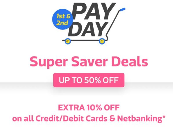 Celebrate with Great discounts on Cashless Payments, Get Extra 10% off [Max. Rs. 750]