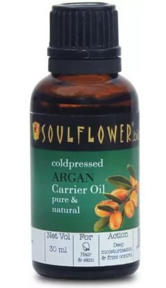 Soulflower Coldpressed Argan Carrier Oil (30 ml) at 45% Off