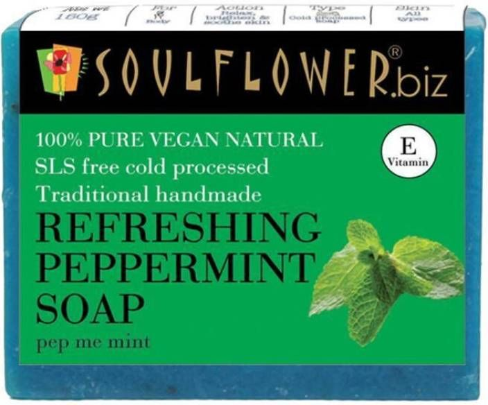 Soulflower Refreshing Peppermint soap (150 g) at Just Rs. 149