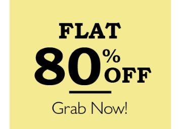 Mega Deal - Top Brands Clothing Flat 80% Off [Big Loot Offer]