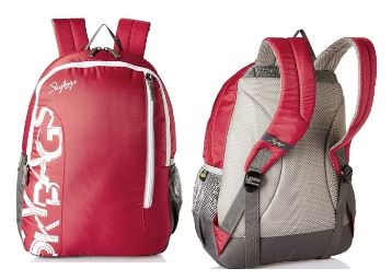 Skybags Red Casual Backpack at Flat 70% Off + Extra 10% Cashback With Amazon Pay Balance