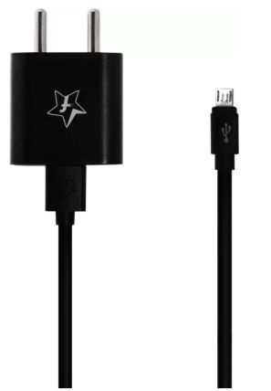 Flipkart SmartBuy 2A Fast Charger with Charge & Sync USB Cable (Black) at Rs. 230