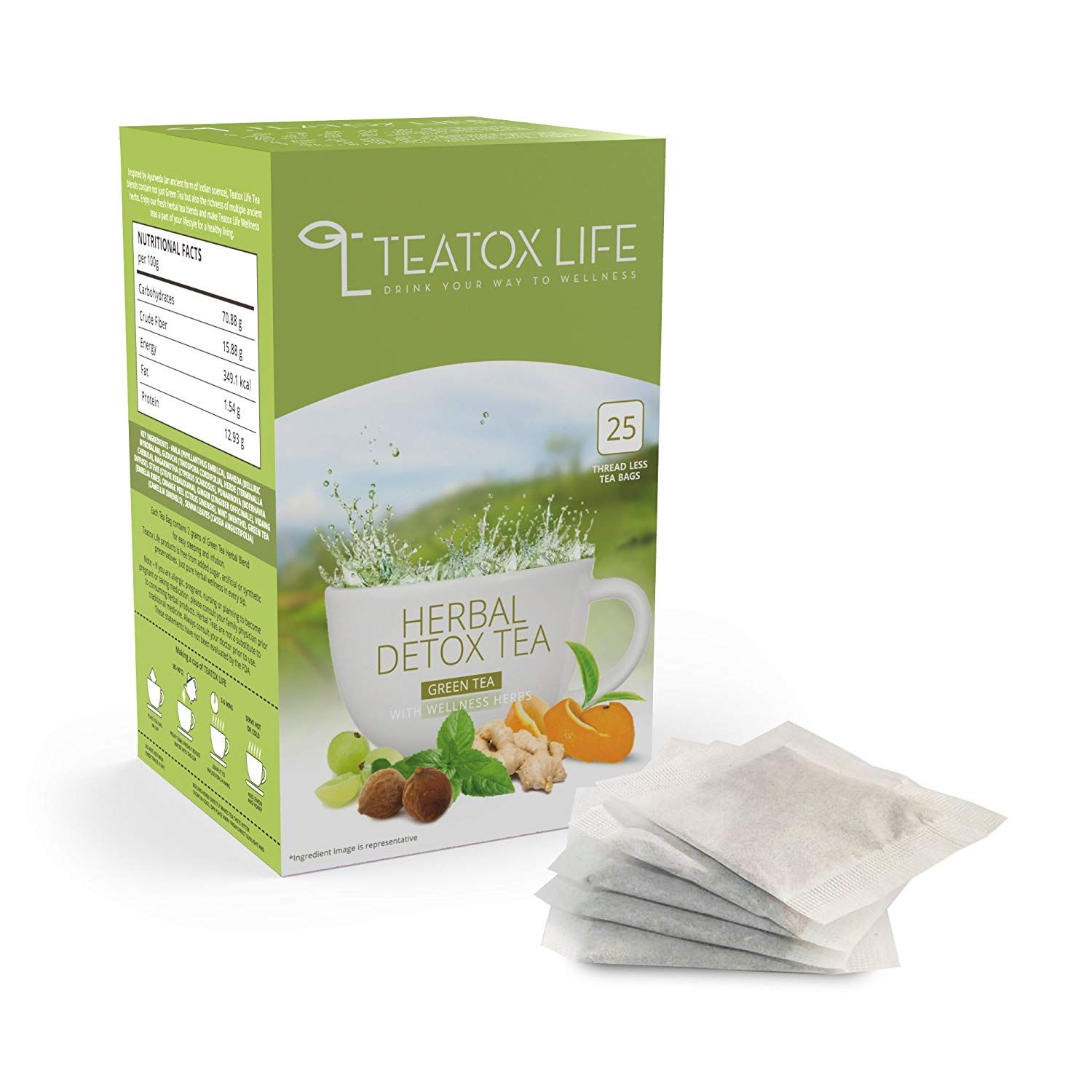 Flat 54% off:- Teatox Life 28 Day Detox Herbal Tea for weight loss, slimming tea