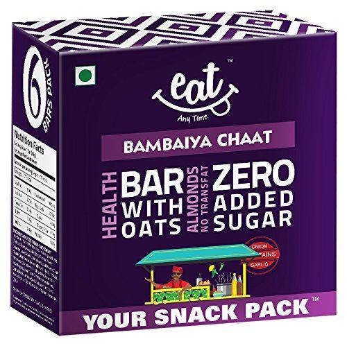 Flat 50% off:- EAT Anytime Bambaiya Chaat Cereal Bars - 228g (38g x 6 bars)