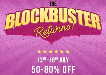 Myntra Blockbuster Sale:- Get 50 - 80% off on Top Brands + More Offers
