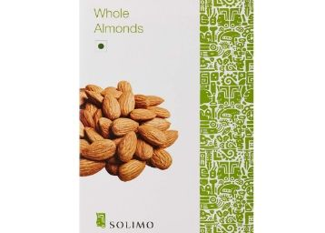Amazon Brand - Solimo Premium Almonds, 500g at Flat 34% Off + 10% Cashback Using BHIM Upi