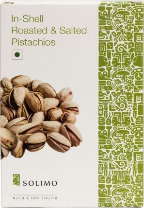 Amazon Brand - Solimo Premium Roasted and Salted California Pistachios, 250g 35% Off + 10% Cashback Using UPI