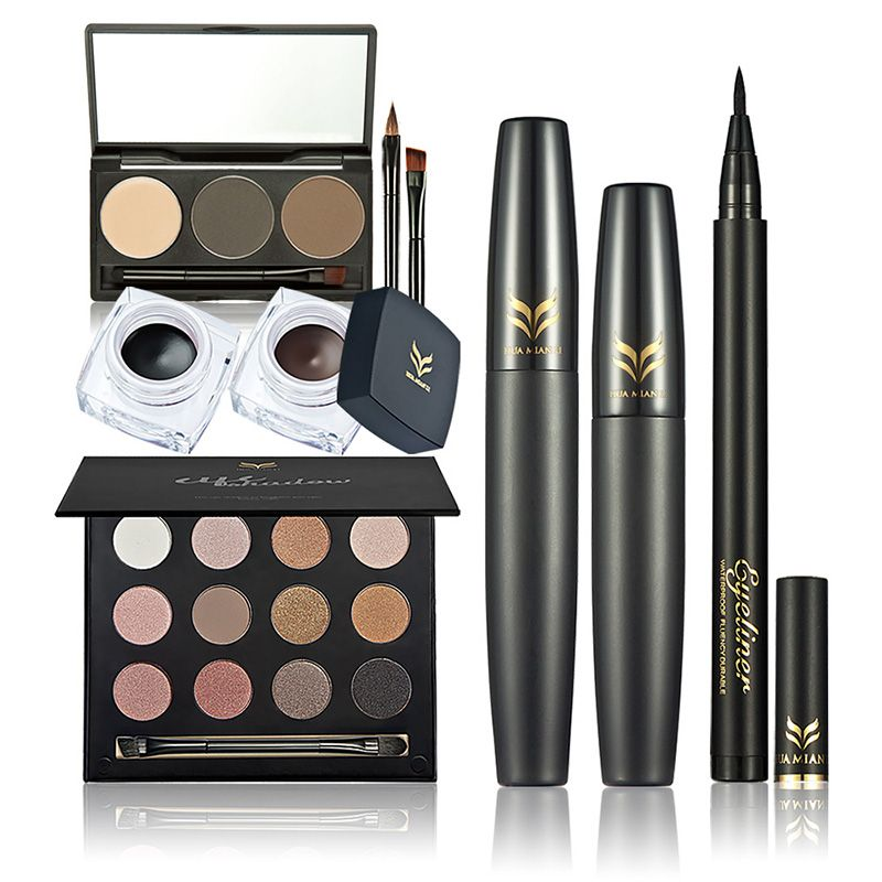 Eye Shadow Eyeliner Mascara Eyebrow Makeup Set 9 pcs at Just Rs. 719
