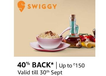 Order From Swiggy & Get 40% Cashback [ Max. Rs. 150]