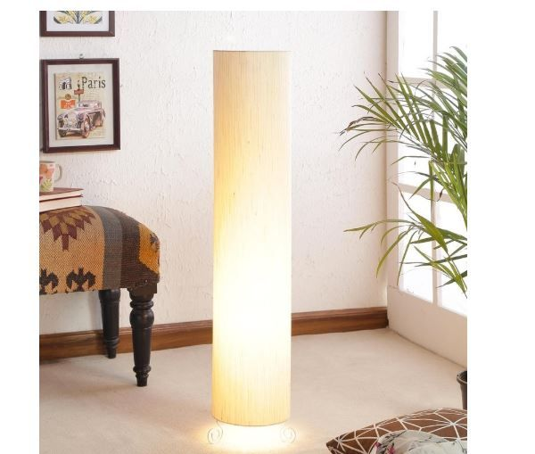 Beige Poly Cotton Floor Lamp by Lamp House worth Rs. 2999 at Just Rs.599