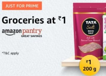 Pantry Products at Just Rs. 1 [For prime User Only]
