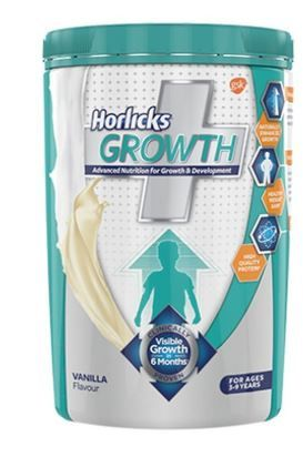 Horlicks Growth Plus – Health & Nutrition drink (Vanilla flavor) 400gm Pet Jar at 50% Off