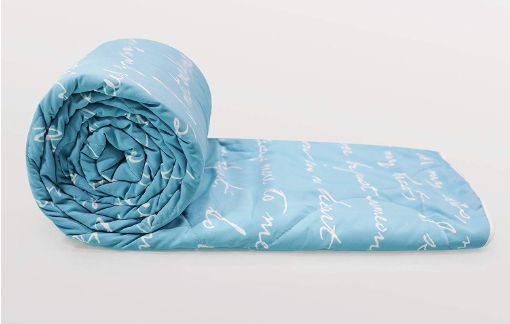 Deal Of The Day - Flat 63% Off On Divine Casa Luxor Abstract Microfibre Single Comforter - Blue
