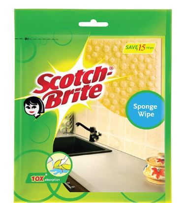 Scotch-Brite Sponge Wipe (Pack of 3) (Color May Vary) at Just Rs. 119